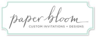 Paper Bloom :: Custom Invitations & Designs