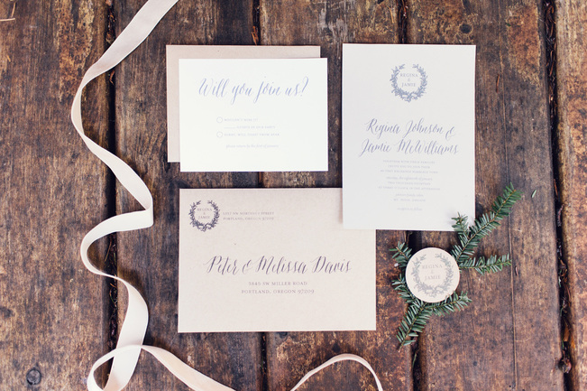 Paper Bloom Invitation Design Studio // Portland, Oregon // Portland Custom Wedding Invitations